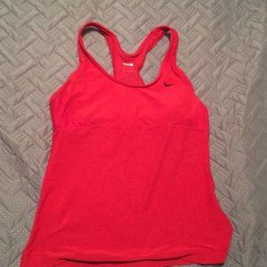 Red Nike Workout Tank